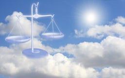 Balance en las nubes Imagenes de archivo