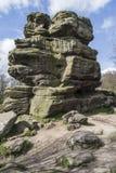 Balance a estrutura em rochas de Brimham, Yorkshire, Inglaterra Foto de Stock Royalty Free