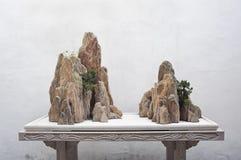 Balance a exposição no jardim da retirada do ` s dos pares, Suzhou, China Imagens de Stock