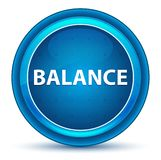 Balance Eyeball Blue Round Button royalty free illustration
