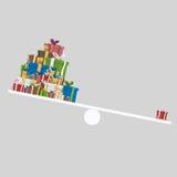 Balance gift equality Up. 3D.  Stock Photography