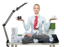 Balance of good and evil in business Royalty Free Stock Photography