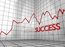 Balance graph success Stock Images