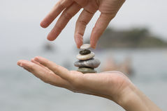 Balance on hand Stock Photo