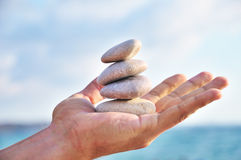 Balance, Harmony And Idyll Are In You Own Hands Stock Photo