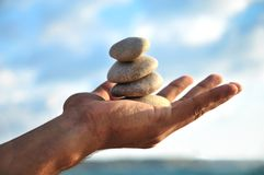 Balance, harmony and  idyl are in you own hands Royalty Free Stock Image