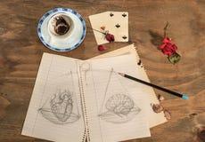 Balance:heart or brain. Royalty Free Stock Photos