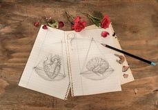 Balance:heart or brain. Royalty Free Stock Photography