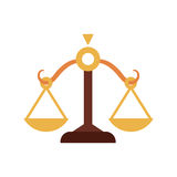 Balance icon. Law and justice design. Vector graphic Stock Photos