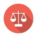 Balance Icon. Balance vector Glyphs Shadow Icon royalty free illustration