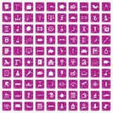 100 balance icons set grunge pink. 100 balance icons set in grunge style pink color isolated on white background vector illustration royalty free illustration
