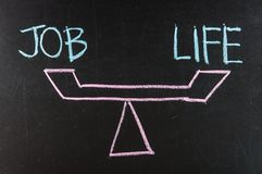 Balance of job and life Royalty Free Stock Images