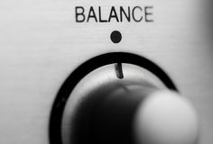 Balance knob Royalty Free Stock Images