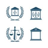 Balance law icon  emblem isolated on white background. Balance law icon modern symbol for graphic and web design. Vector illustration EPS.8 EPS.10 Stock Photography