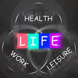 Balance Life Displays Health Leisure and Work Royalty Free Stock Images