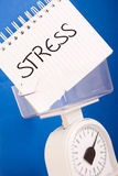 Balance measuring stress load Royalty Free Stock Photography