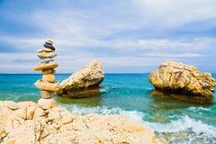 Balance at the Mediterranean shores Royalty Free Stock Images