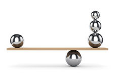 Balance metal balls Stock Images