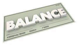 Balance Money Check Bank Account Budget Stock Photography