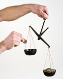 Balance the money Stock Images