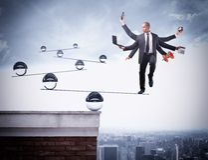 Balance of multitasking Royalty Free Stock Image