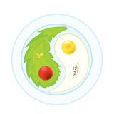 Balance of natural food. Illustration of natural food in balance Royalty Free Stock Photography