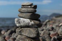 Balance of nature. Coast Alushta, Crimea, summer 2011, the Black Sea Stock Photo