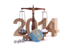 Balance for the New Year. With medicine for a good health Stock Photography
