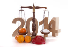 Balance for the New Year Stock Images