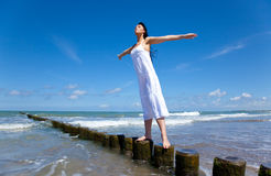 Balance on ocean Stock Photography