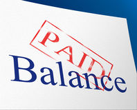 Balance Paid Indicates Confirmation Bills And Equality. Balance Paid Showing Equal Value And Equality Royalty Free Stock Images