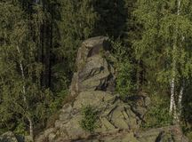 Balance perto da cidade de Kraslice no meio do verão fotografia de stock royalty free