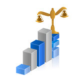 Balance profits. business graph illustration Stock Images