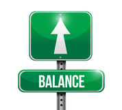 Balance road sign illustration design Stock Photography