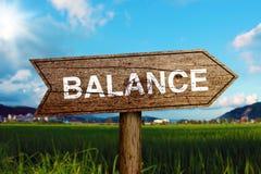 Balance Road Sign Stock Photo