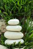 Balance in rock garden Royalty Free Stock Photography