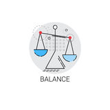 Balance Scale Economic Business Icon. Vector Illustration Royalty Free Stock Photos