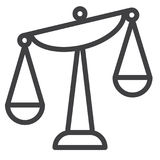 Balance scale line icon Royalty Free Stock Images