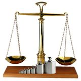 Balance scales Stock Photo