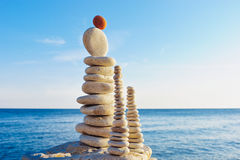 Balance on the seashore Royalty Free Stock Images
