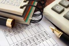Balance sheet and accounting data. Stock Photography