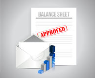 Balance sheet approved concept illustration Royalty Free Stock Image