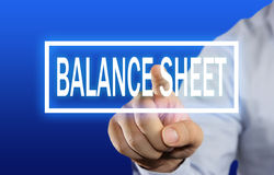 Balance Sheet Concept Stock Photo