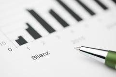 Balance sheet high Stock Photography