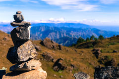 Balance Stone. The best and safest thing is to keep a balance in your life, acknowledge the great powers around us and in us. If you can do that, and live that Royalty Free Stock Photography