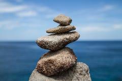Balance stone. In tachai island Royalty Free Stock Photography