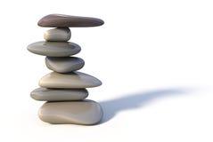 Balance stone tower. On white background Stock Illustration