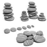Balance stones, collage. Balance stones on a white background, collage Royalty Free Stock Photos
