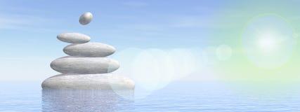 Balance stones - 3D render Royalty Free Stock Photography