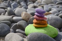 Balance, Stones, Meditation, Zen Royalty Free Stock Photos